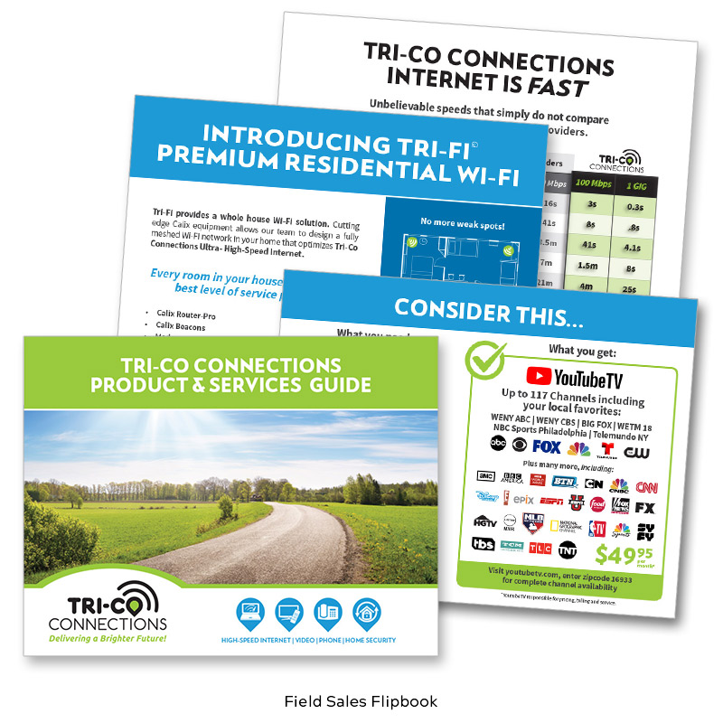 Tri-Co Connections Field Sales Flip Book