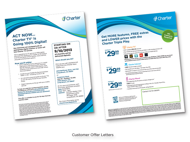 Charter Cable Custom Offer Letter